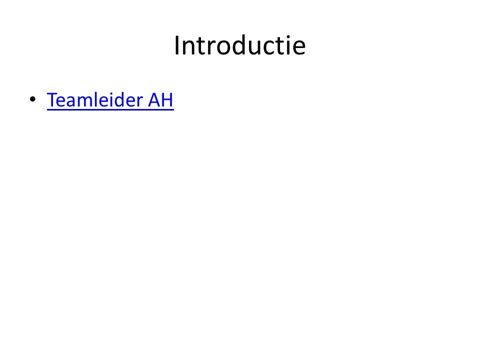 Introductie Teamleider AH