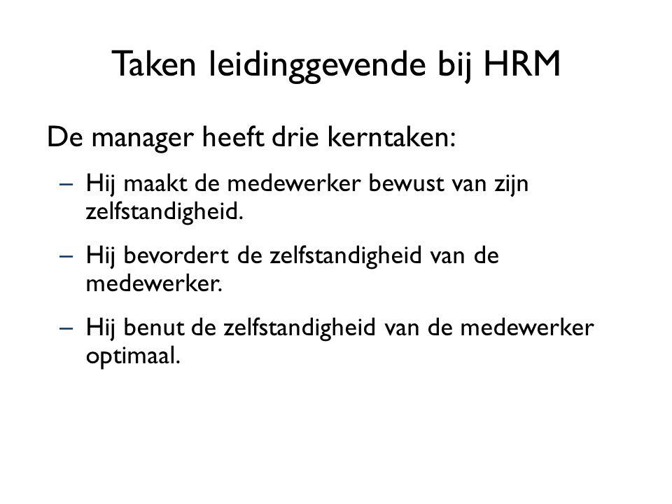 Taken leidinggevende bij HRM