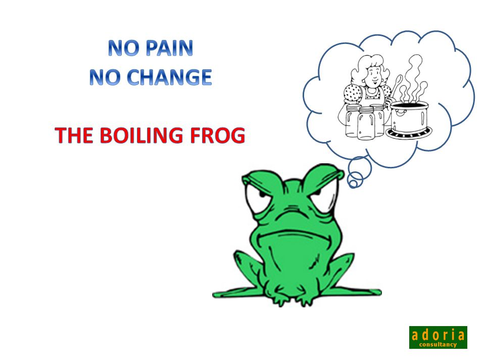 NO PAIN NO CHANGE THE BOILING FROG