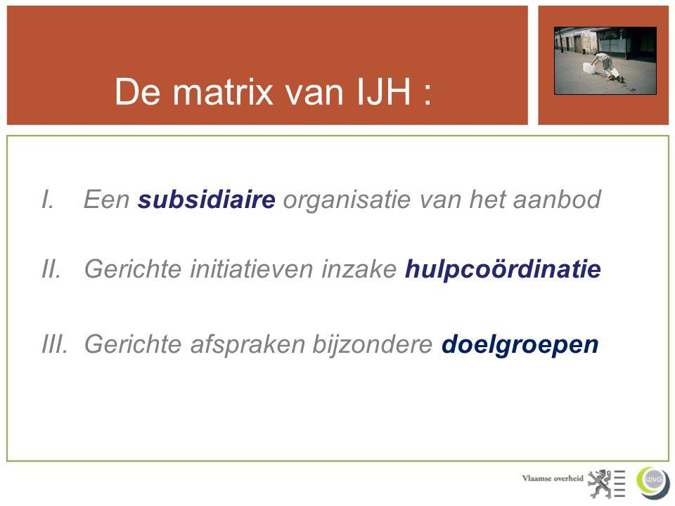 De matrix van IJH : Een subsidiaire organisatie van het aanbod
