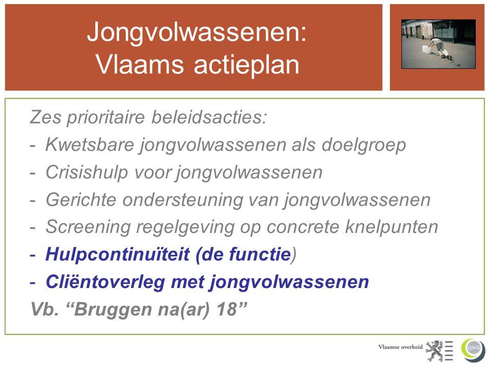 Jongvolwassenen: Vlaams actieplan