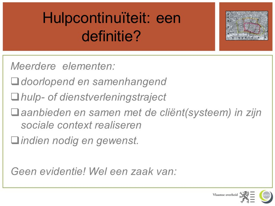 Hulpcontinuïteit: een definitie