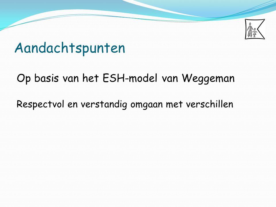 Aandachtspunten Op basis van het ESH-model van Weggeman