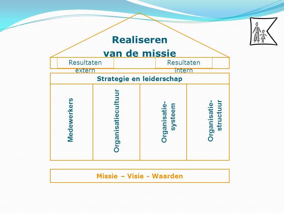 Organisatie- structuur Strategie en leiderschap