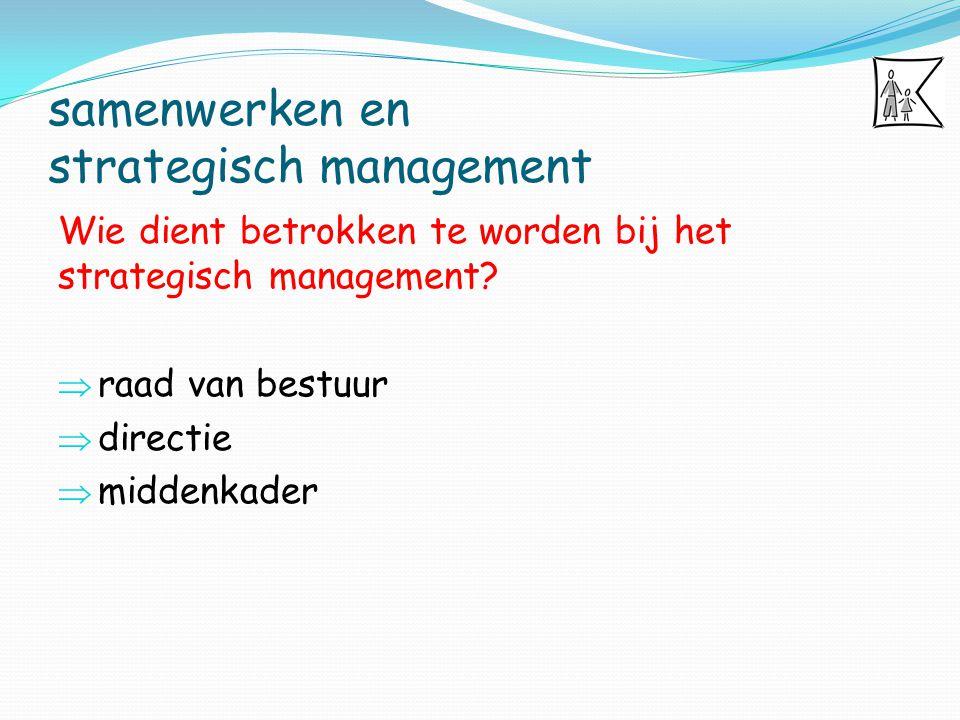 samenwerken en strategisch management