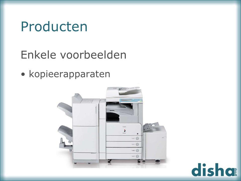 Enkele voorbeelden kopieerapparaten