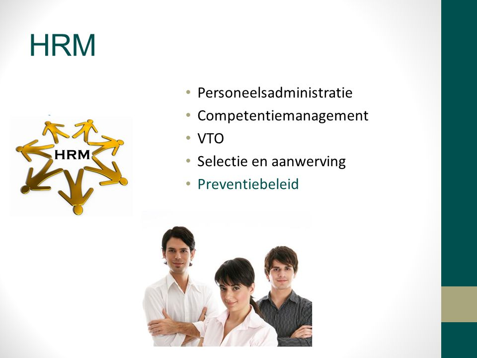 HRM Personeelsadministratie Competentiemanagement VTO