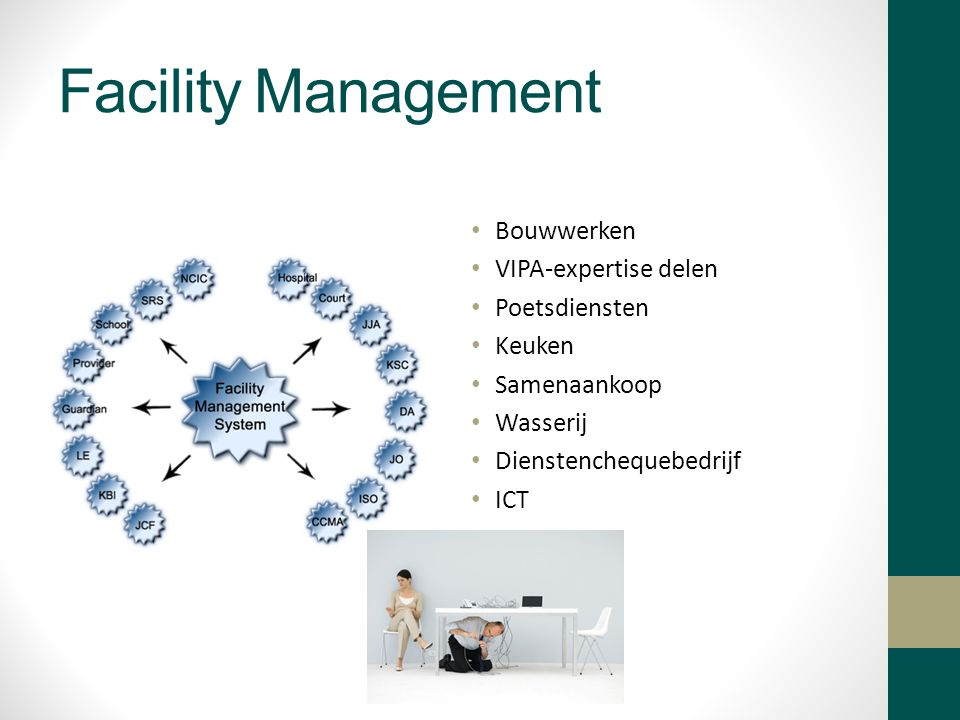 Facility Management Bouwwerken VIPA-expertise delen Poetsdiensten