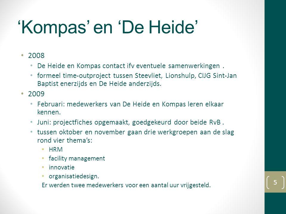 'Kompas' en 'De Heide' 2008. De Heide en Kompas contact ifv eventuele samenwerkingen .