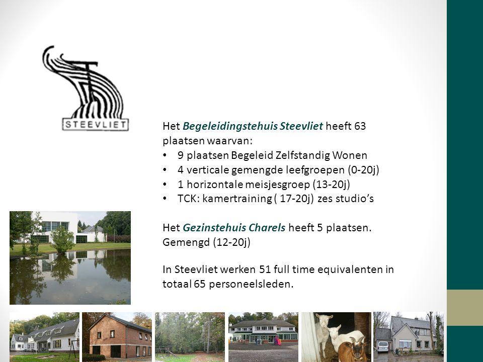 Het Begeleidingstehuis Steevliet heeft 63 plaatsen waarvan: