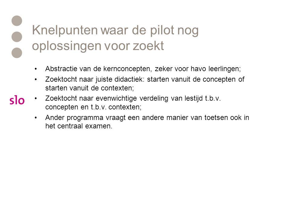 Knelpunten waar de pilot nog oplossingen voor zoekt