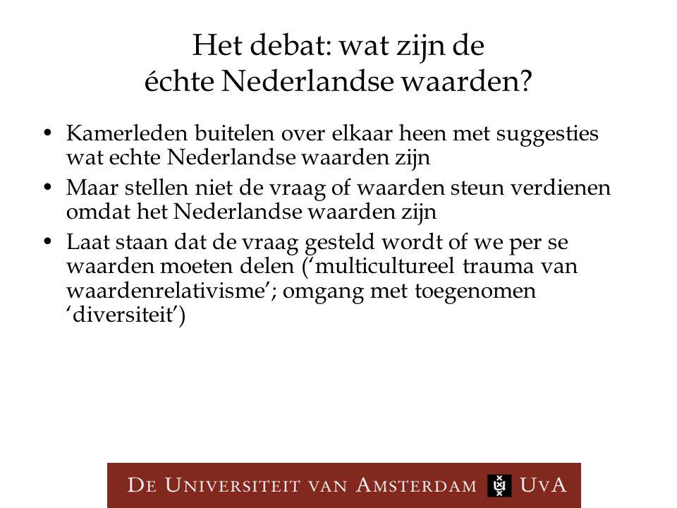 Het debat: wat zijn de échte Nederlandse waarden