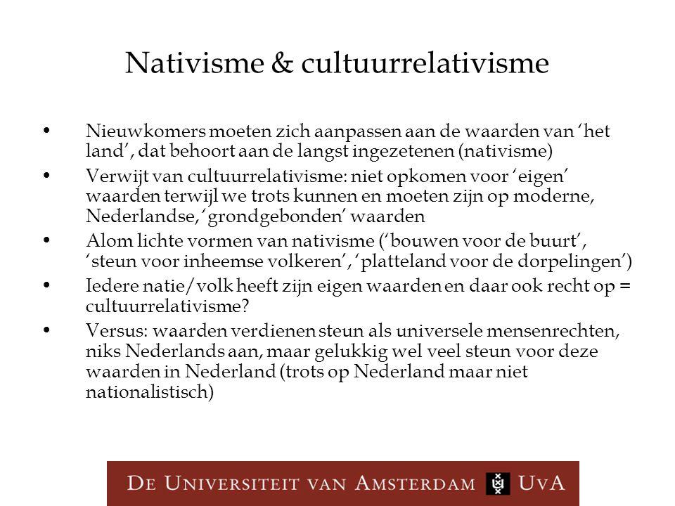 Nativisme & cultuurrelativisme