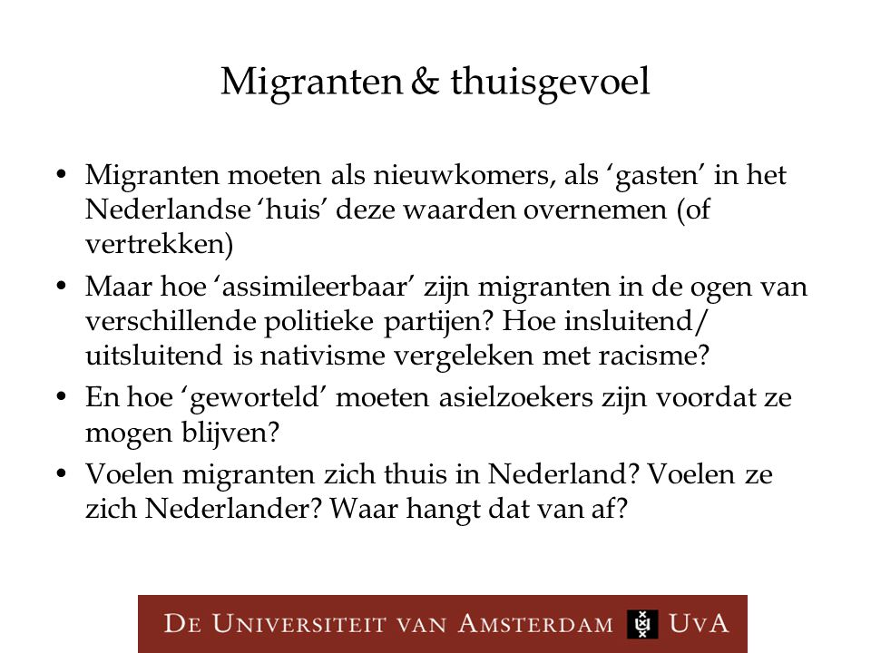 Migranten & thuisgevoel
