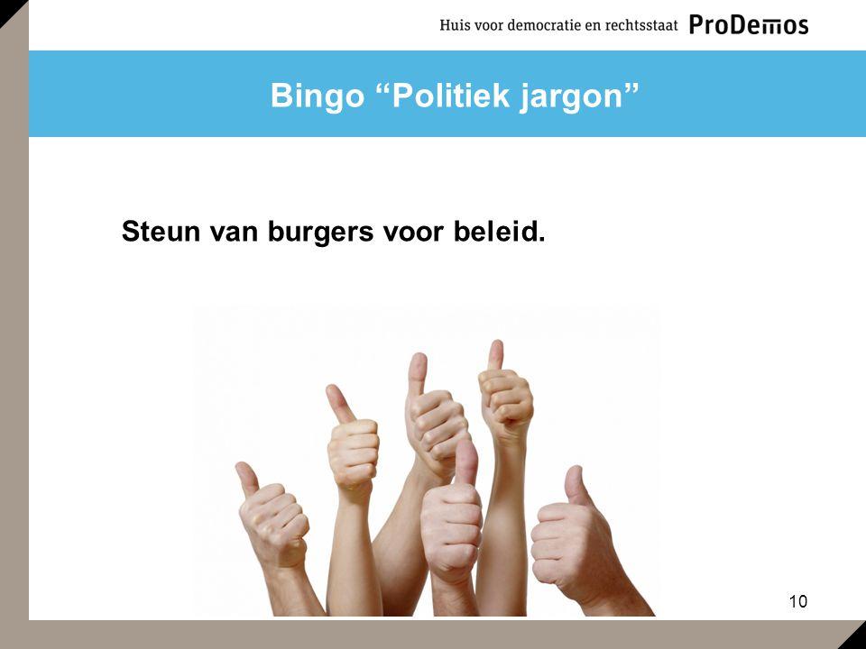 Bingo Politiek jargon