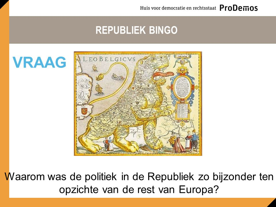 REPUBLIEK BINGO VRAAG.