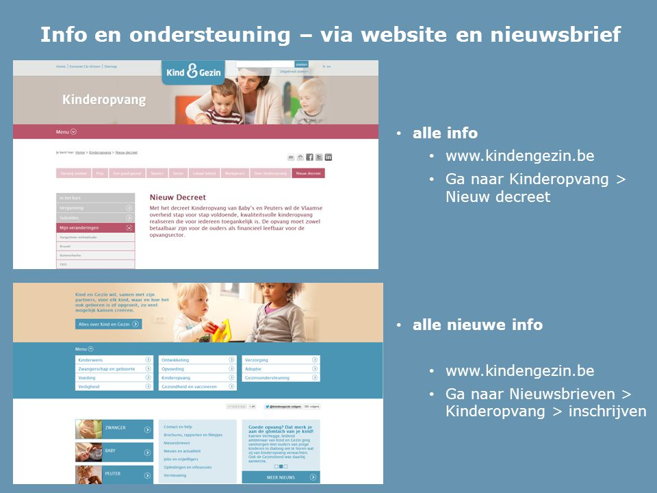 Info en ondersteuning – via website en nieuwsbrief