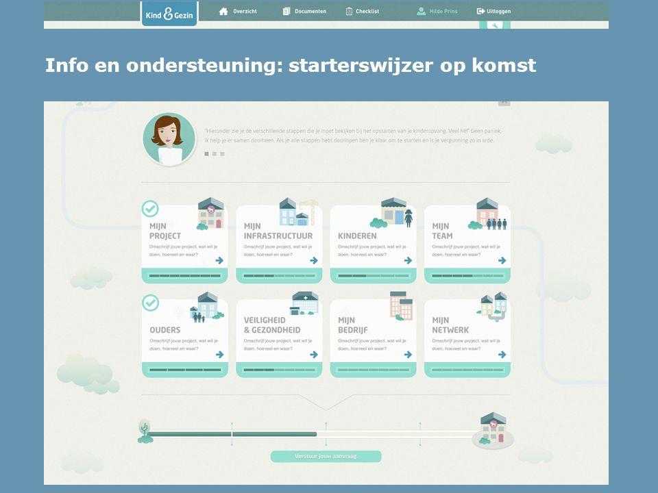 Info en ondersteuning: starterswijzer op komst