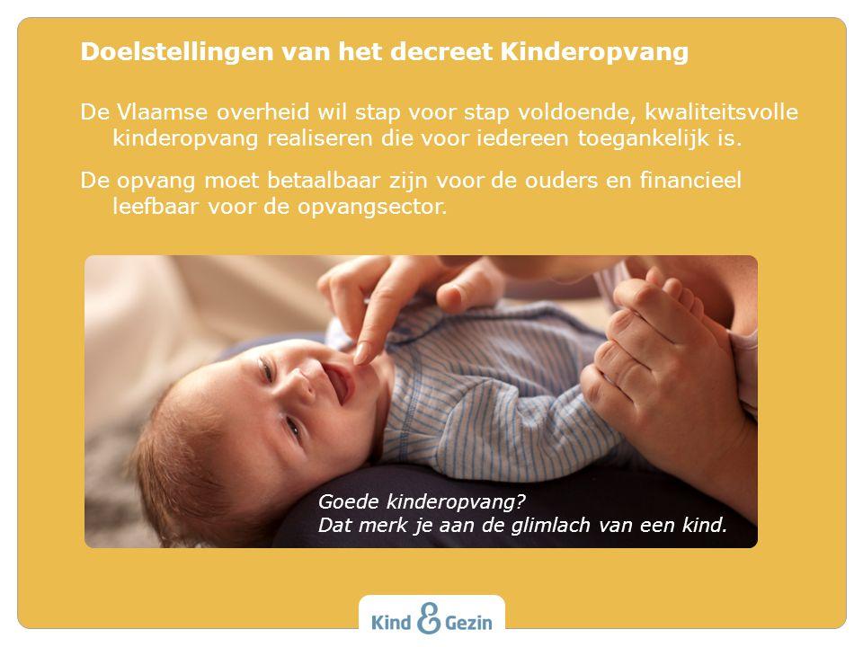 Doelstellingen van het decreet Kinderopvang