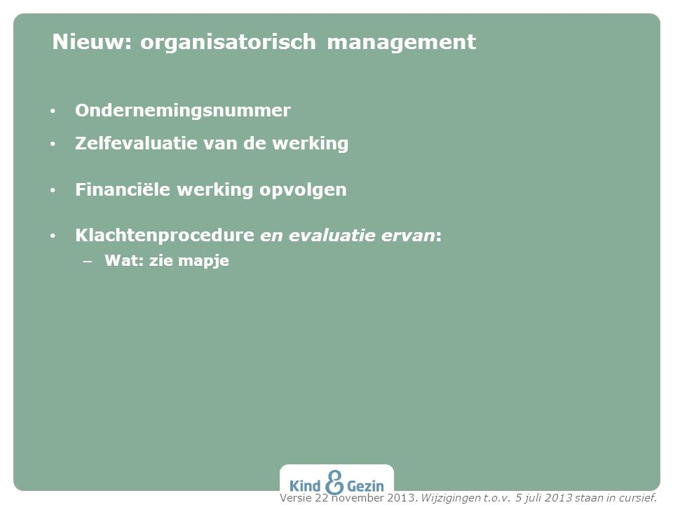 Nieuw: organisatorisch management