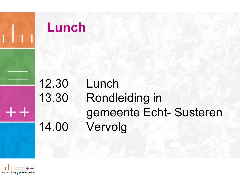 Lunch 12.30 Lunch 13.30 Rondleiding in gemeente Echt- Susteren