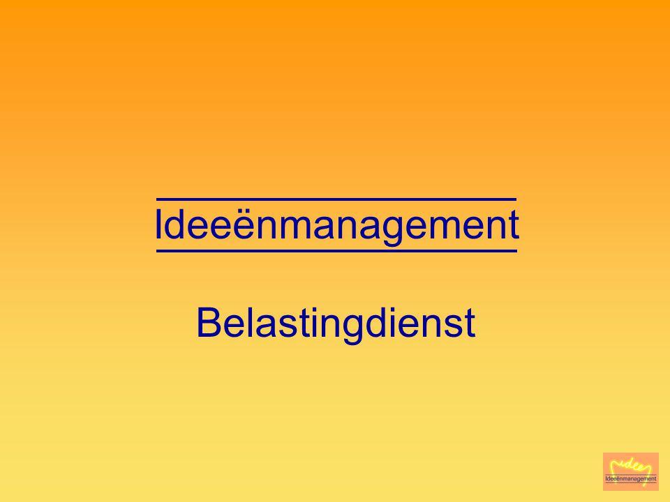 Ideeënmanagement Belastingdienst Voorstellen/Introductie