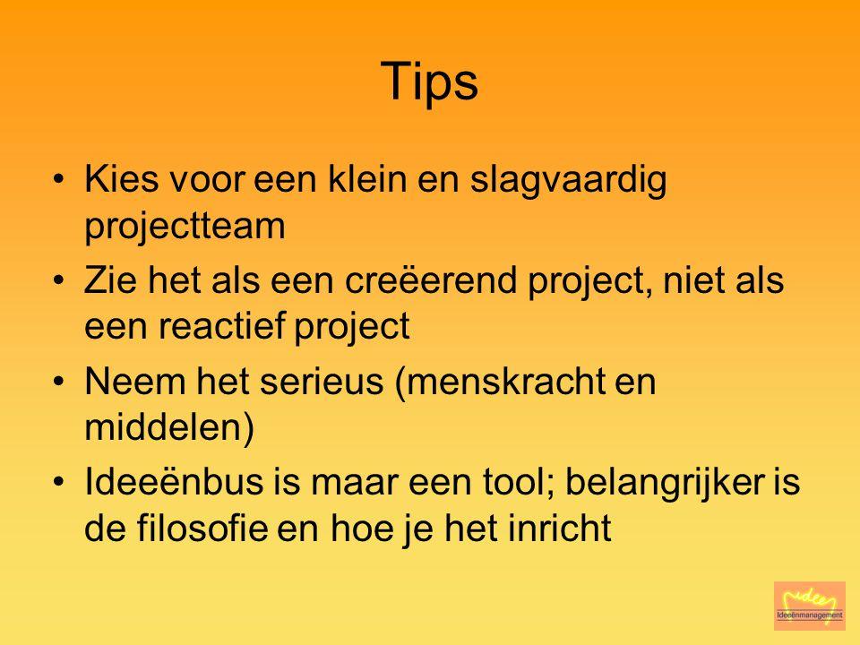 Tips Kies voor een klein en slagvaardig projectteam