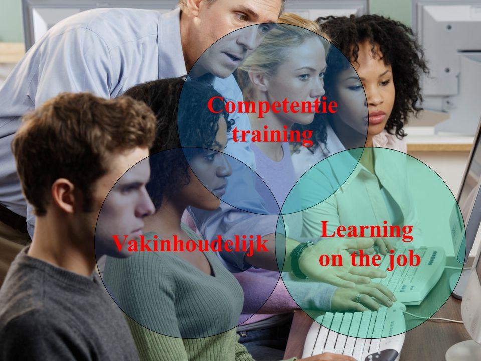 Competentie training Vakinhoudelijk Learning on the job