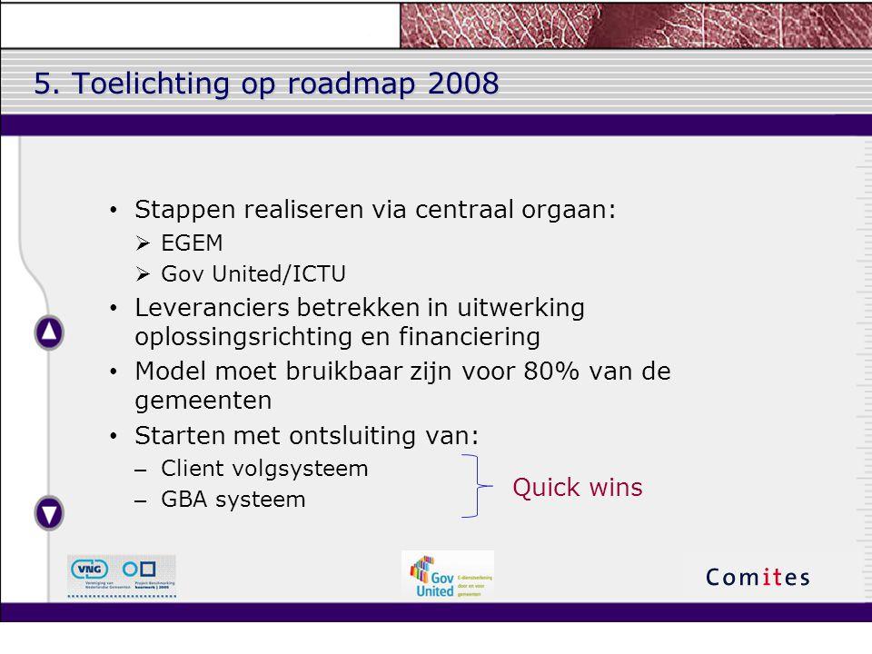 5. Toelichting op roadmap 2008