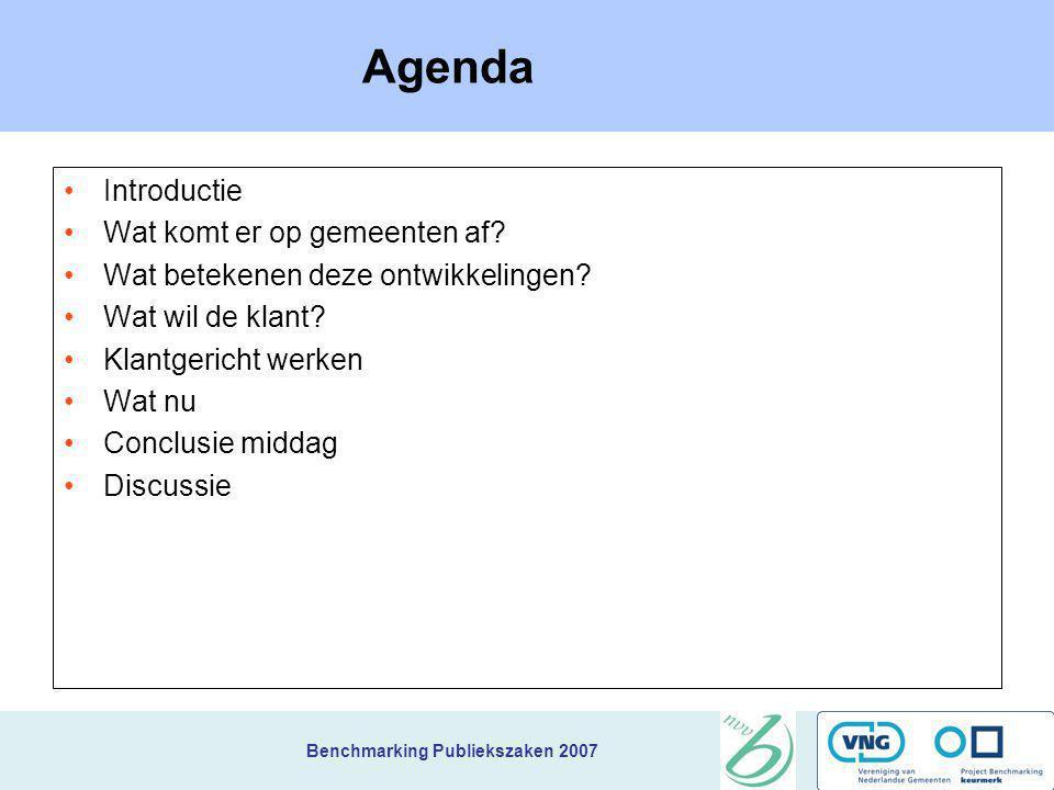 Agenda Introductie Wat komt er op gemeenten af