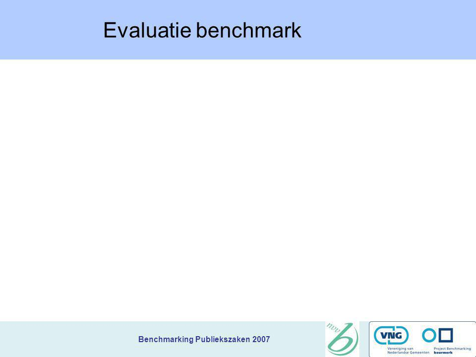 Evaluatie benchmark