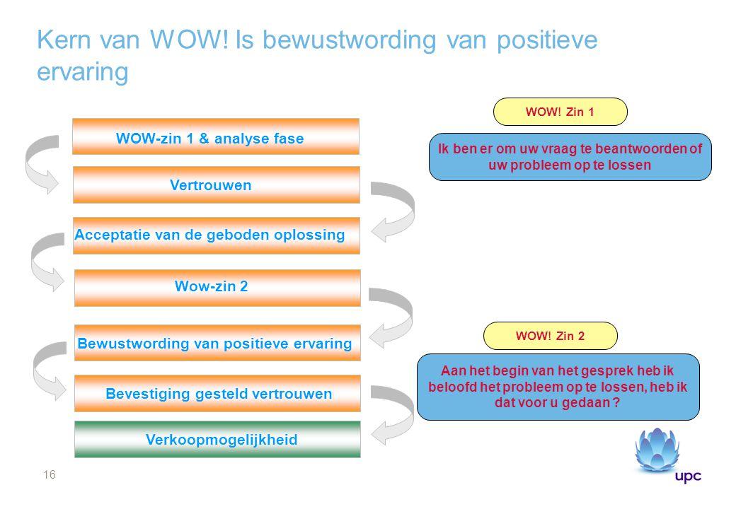 Kern van WOW! Is bewustwording van positieve ervaring