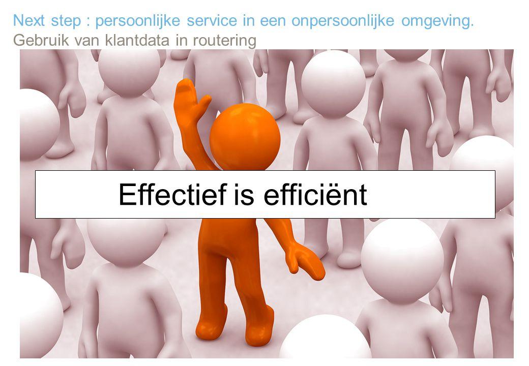 Effectief is efficiënt