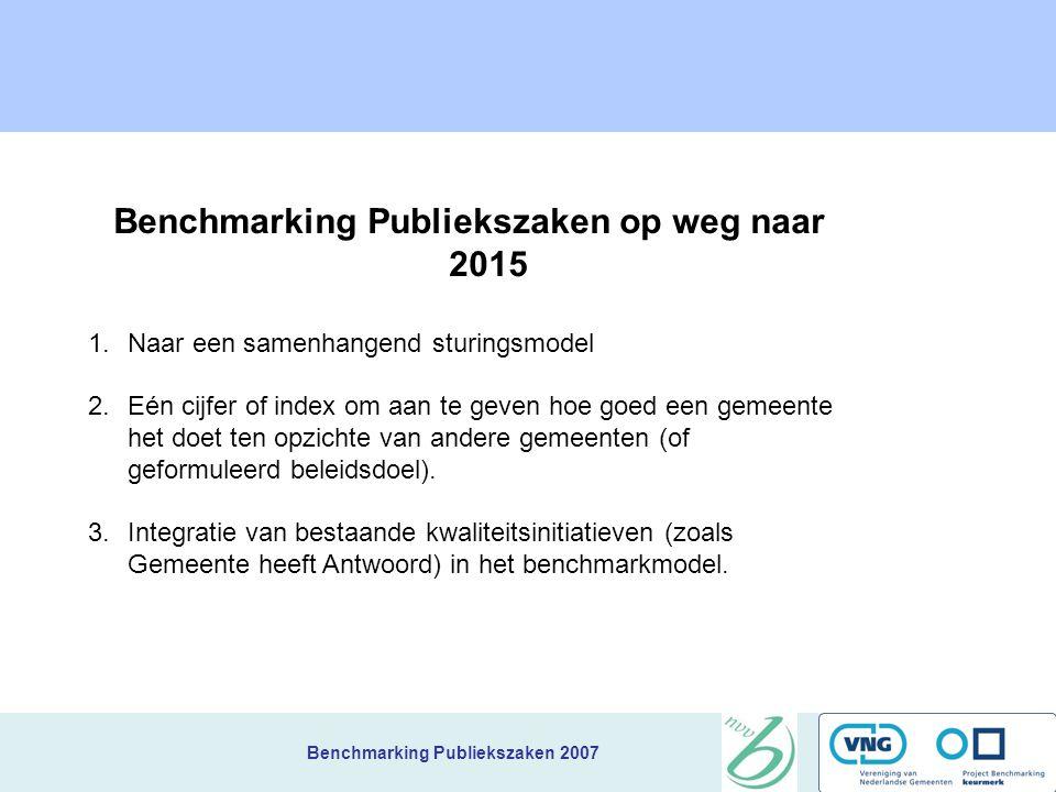 Benchmarking Publiekszaken op weg naar 2015