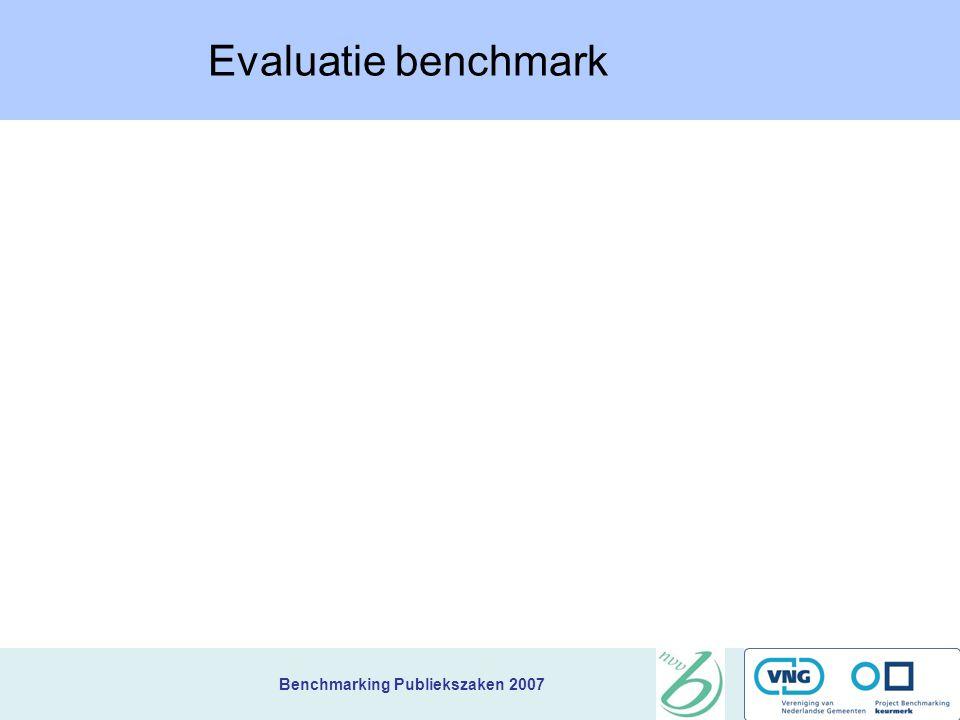 Evaluatie benchmark