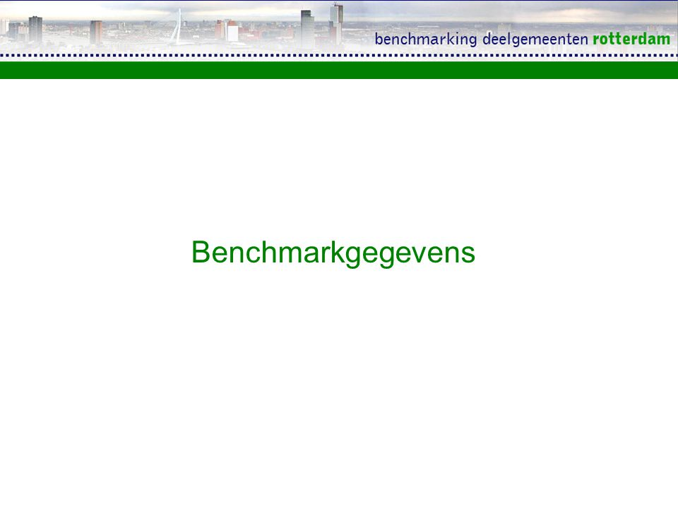 Benchmarkgegevens
