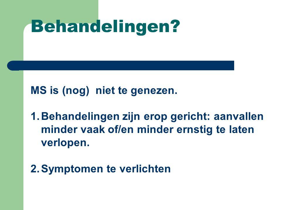 Behandelingen MS is (nog) niet te genezen.