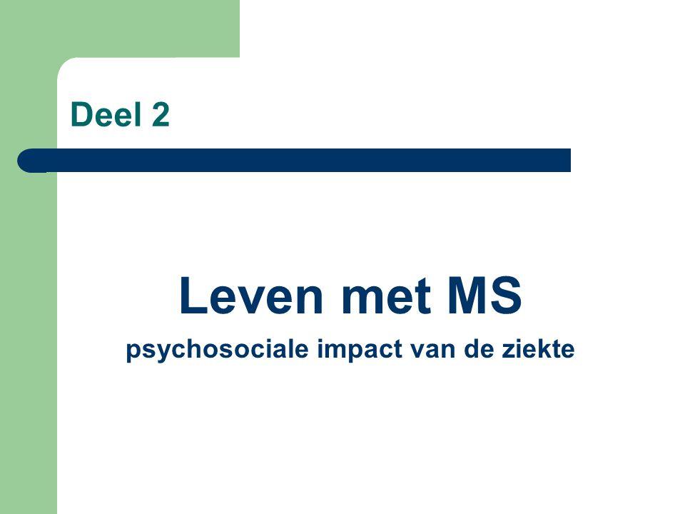 psychosociale impact van de ziekte