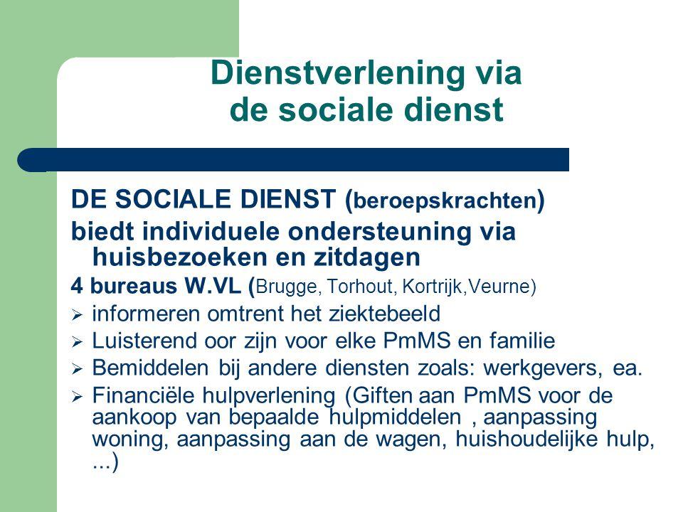 Dienstverlening via de sociale dienst