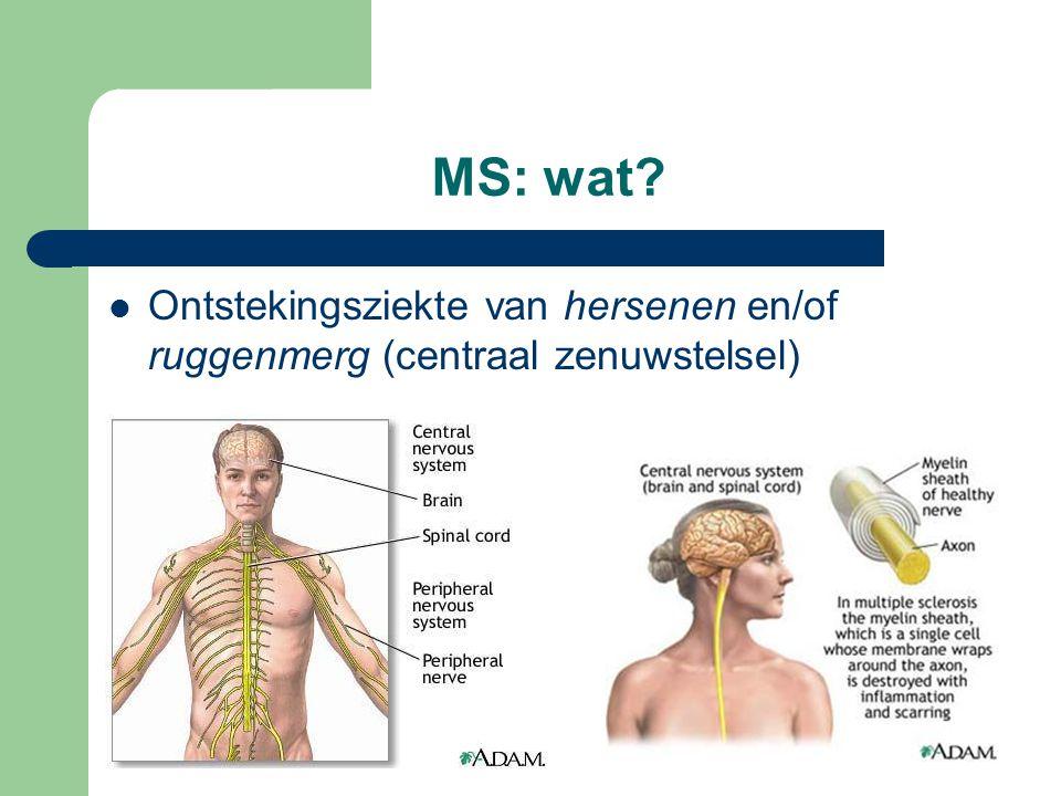 MS: wat Ontstekingsziekte van hersenen en/of ruggenmerg (centraal zenuwstelsel)