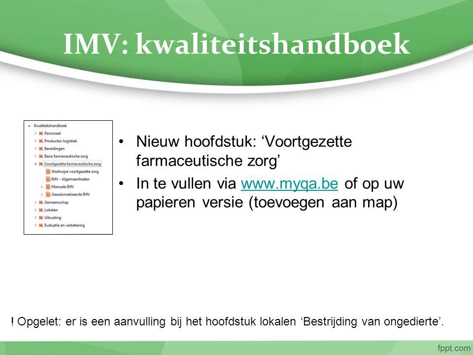 IMV: kwaliteitshandboek