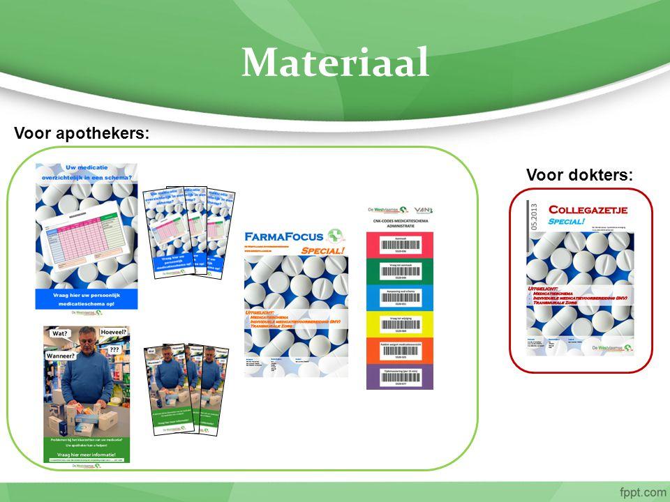 Materiaal Voor apothekers: Voor dokters: