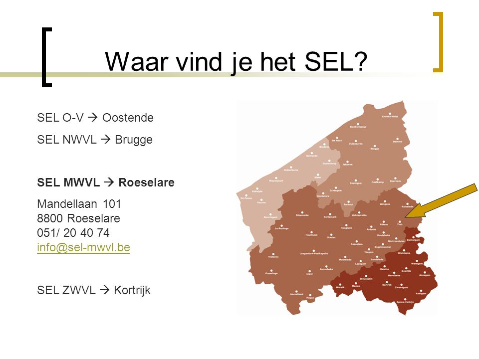 Waar vind je het SEL SEL O-V  Oostende SEL NWVL  Brugge