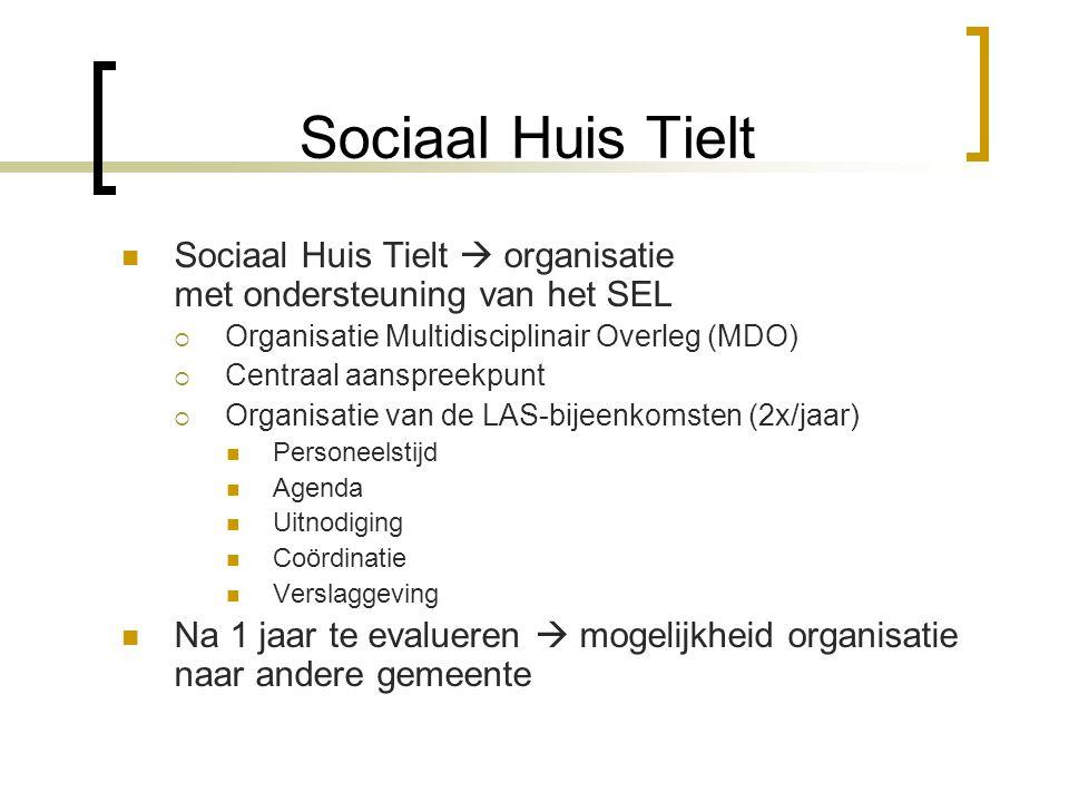 Sociaal Huis Tielt Sociaal Huis Tielt  organisatie met ondersteuning van het SEL. Organisatie Multidisciplinair Overleg (MDO)