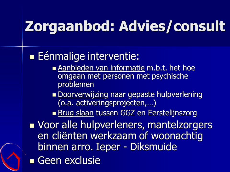Zorgaanbod: Advies/consult