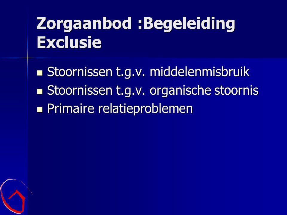 Zorgaanbod :Begeleiding Exclusie