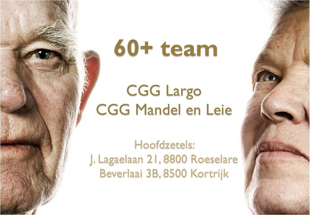 60+ team CGG Largo CGG Mandel en Leie Hoofdzetels: J