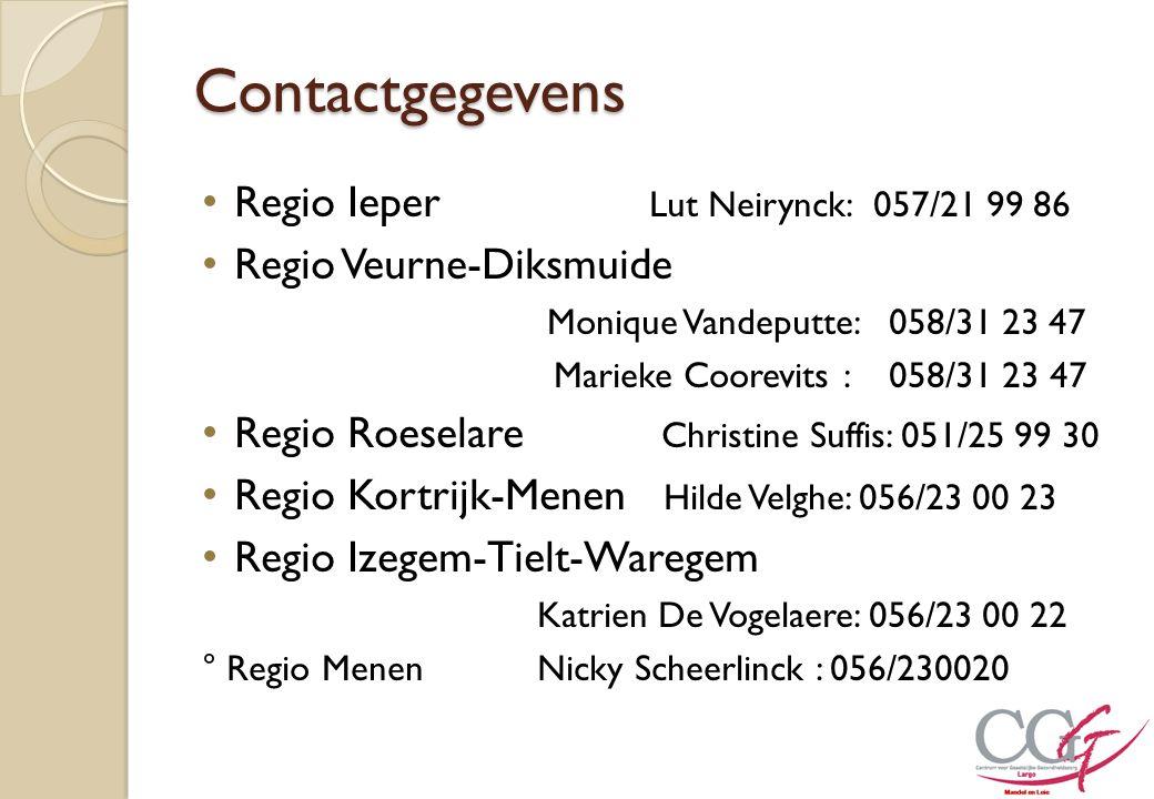 Contactgegevens Regio Ieper Lut Neirynck: 057/21 99 86