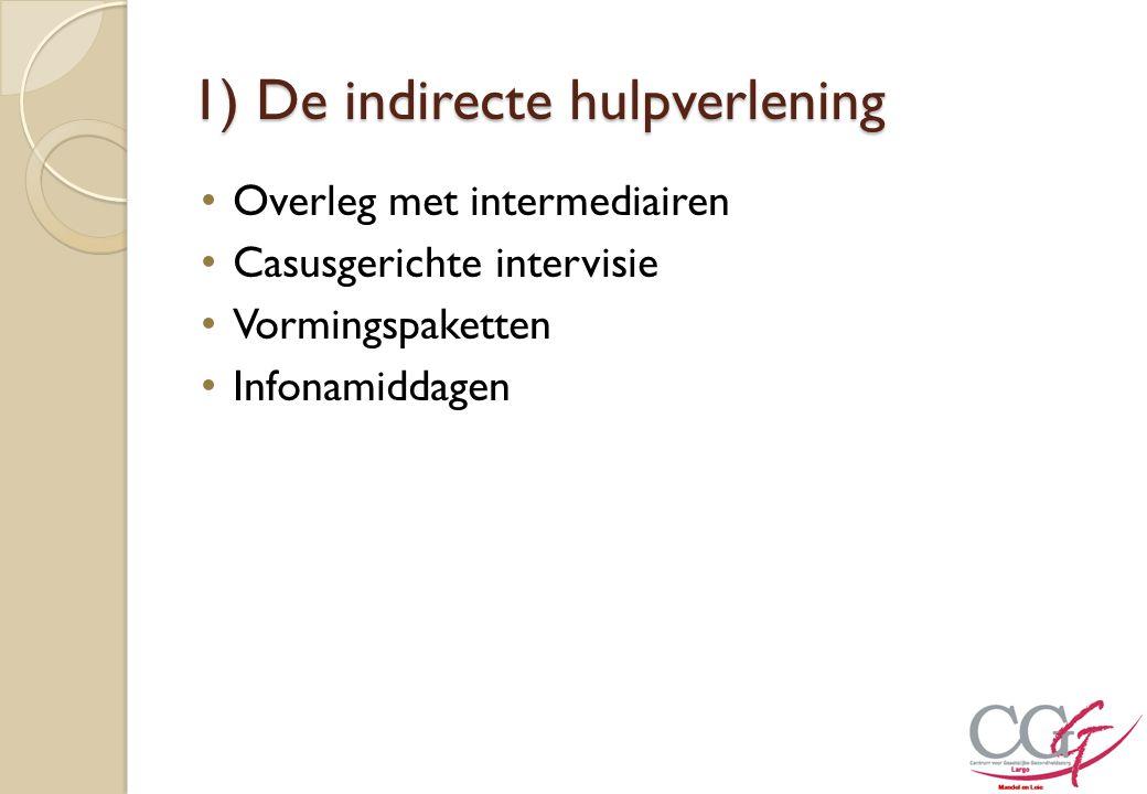 1) De indirecte hulpverlening