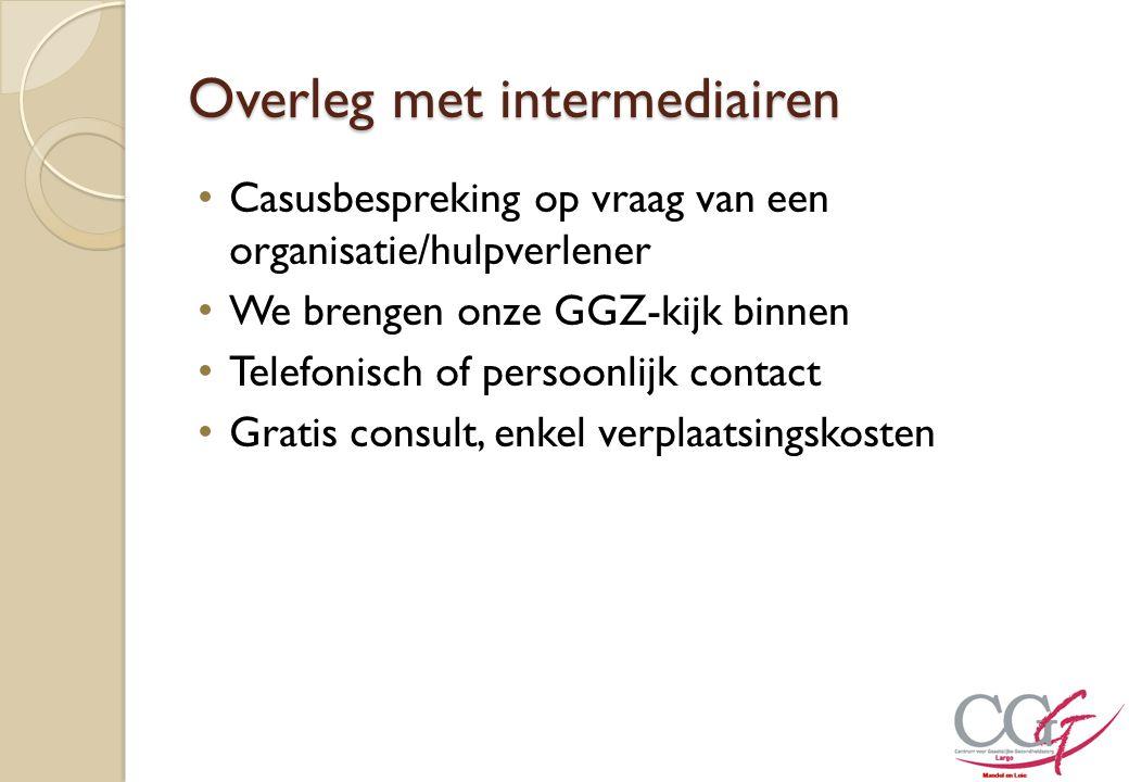 Overleg met intermediairen